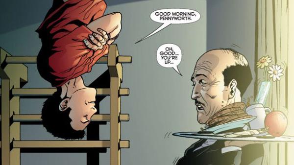 Batgirl #17 - Damien Wayne and Alfred