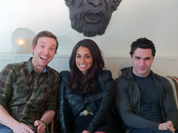 Being Human - Sam Huntington, Meaghan Rath and Sam Witwer