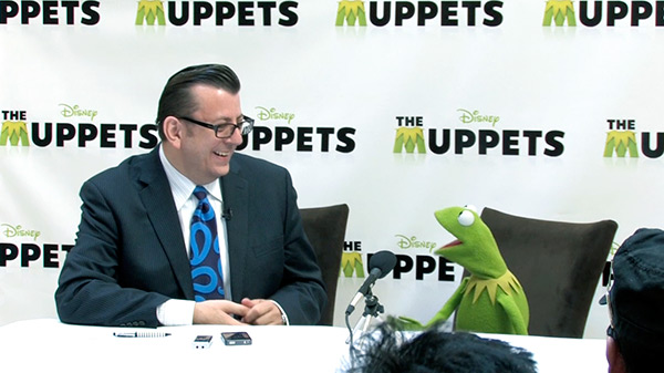 The Muppets - Kermet the Frog Press Conference Toronto (with Richard Crouse)