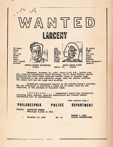 The Life and Crimes of Doris Payne - Hot Docs 2013 - Wanted Poster