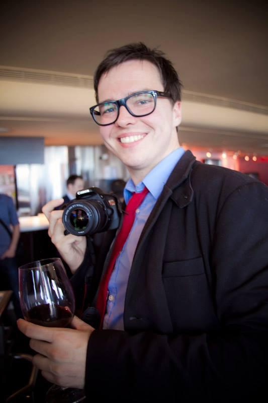 Viral video superhero Sean Ward, rocking the full Clark Kent.