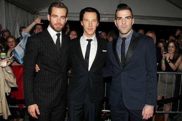 Star Trek Into Darkness - Premiere - Chris Pine Zachary Quinto Benedict Cumberbatch