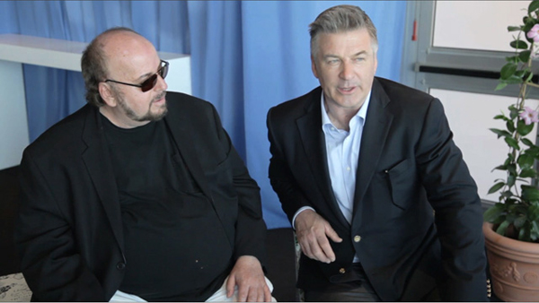 James Tobak and Alec Baldwin in conversation at the 2013 Cannes film festival