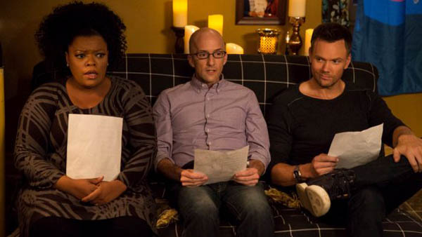 "COMMUNITY -- ""Advanced Advanced Dungeons & Dragons"" Episode 510 -- Pictured: (l-r) Yvette Nicole Brown as Shirley, Jim Rash as Dean Pelton, Joel McHale as Jeff -- (Photo by: Justin Lubin/NBC)"