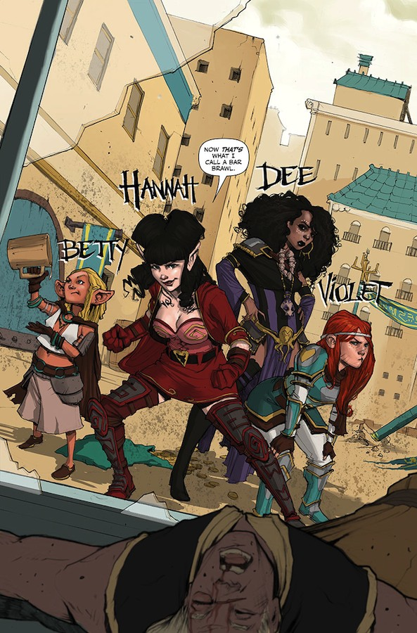 Rat Queens Splash Page