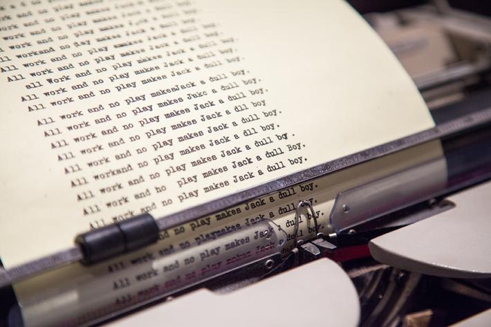 TIFF Kubrick Exhibit - Shining Typewriter