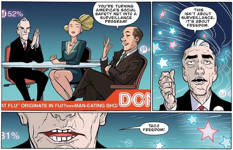 taco drone - panels  from Prez #1, DC Comics (2015)