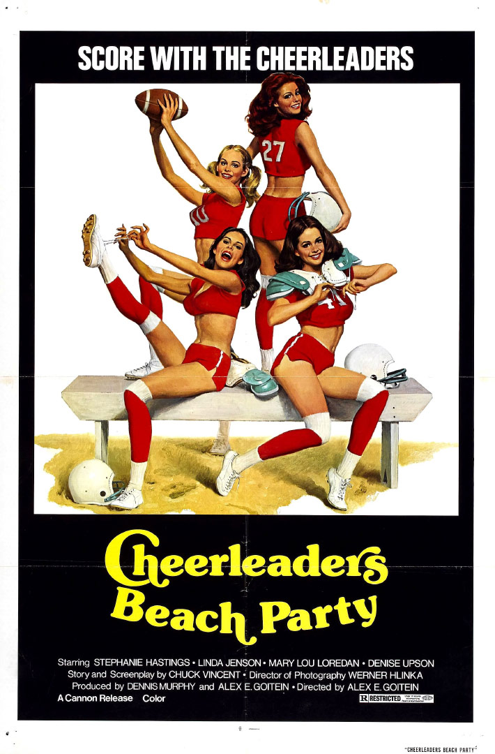 Cheerleaders Beach Party Poster