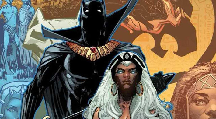 black panther storm married