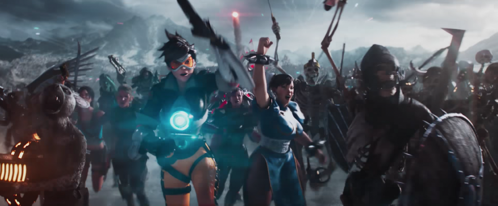 Tracer from Overwatch in Ready Player One