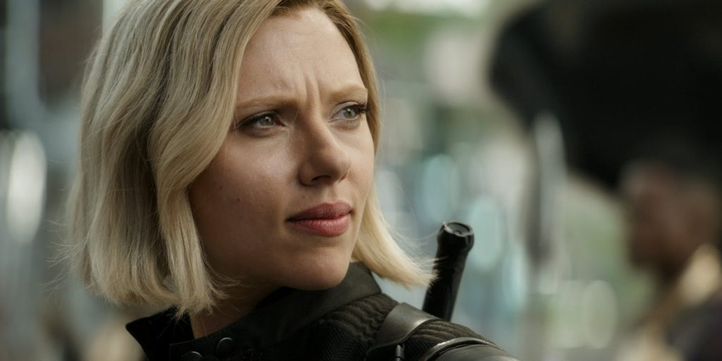 Scarlett Johansson as Black Widow in Avengers: Infinity War