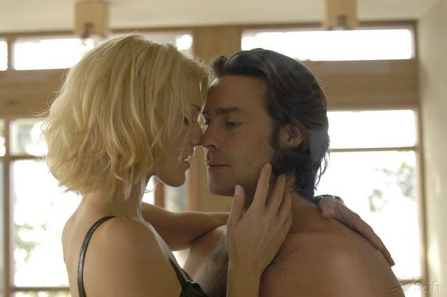 Six and Baltar get it on in the pilot for Battlestar Galactica