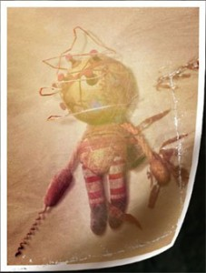 Image of a big daddy toy from the BioShock 2 teaser site