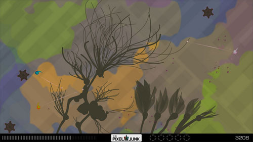 An organic gamespace from PixelJunk Eden