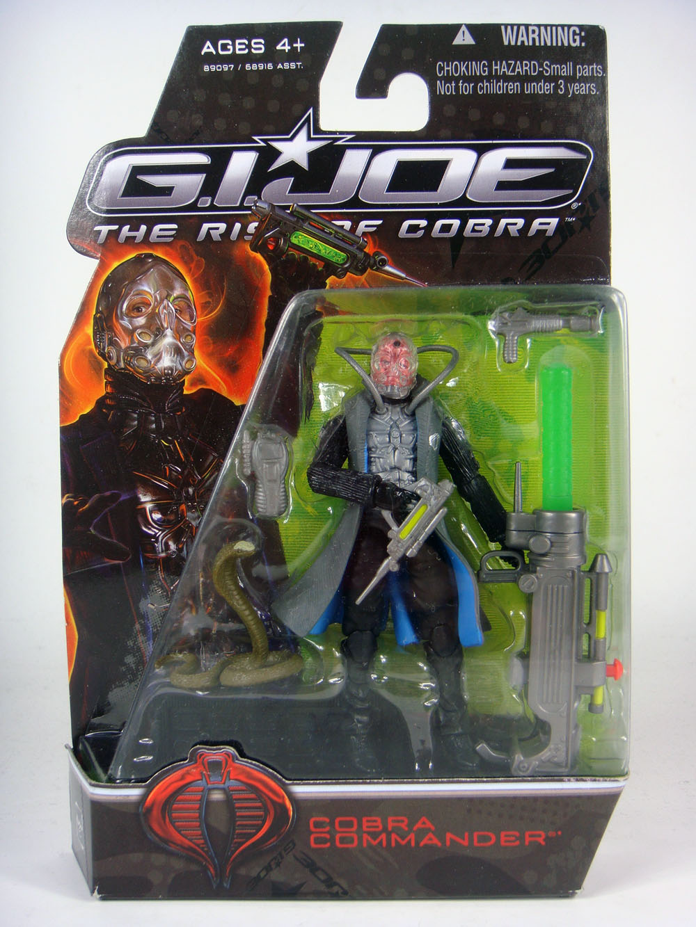 The action figure for Cobra Commander from the upcoming G.I. Joe film.  Also known as a Stephen Sommers abortion.