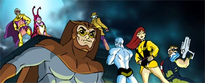 "The Watchmen as imagined by HappyHarry in ""Saturday Morning Watchment"""