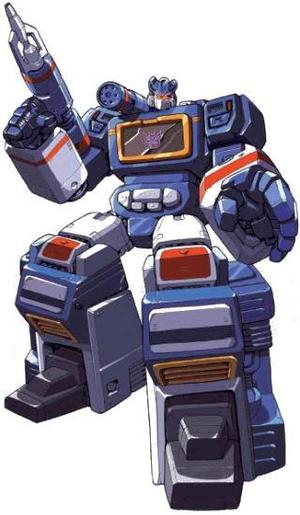 Soundwave as he appeared in the Transformers comics from Toronto's Dreamwave.