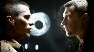 John Connor (Christian Bale) confronts Marcus Wright (Sam Worthington) in this summer's Terminator Salvation