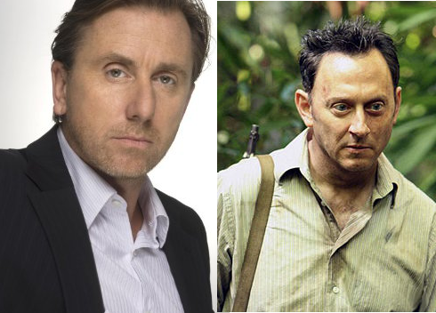 Tim Roth as Dr. Cal Lightman from Lie To Me and Michael Emerson as Benjamin Linus from Lost