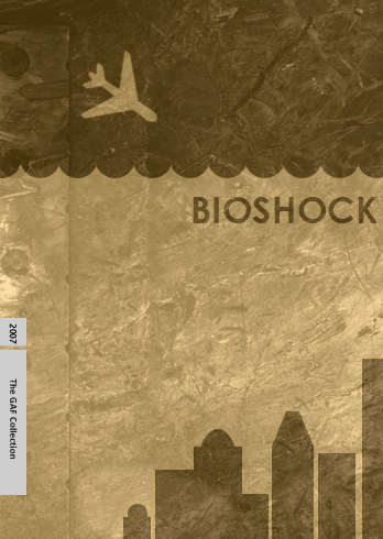 Cover art for BioShock done in the style of a Criterion Collection DVD