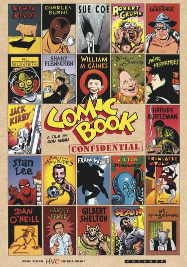 The cover for the documentary Comic Book Confidential