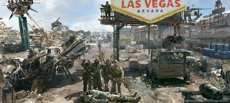 Fallout 3 concept art photoshopped by Will to look like Las Vegas