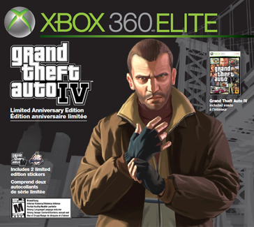 The packaging for the GTA IV Xbox Elite Bundle - Exclusive to Canada