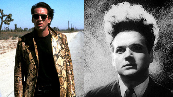 Nicholas Cage in Wild at Heart and Jack Nance in Eraserhead both by David Lynch