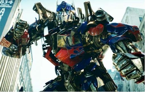 Optimus Prime as he appeared in Michael Bay's first Transformers live action film.