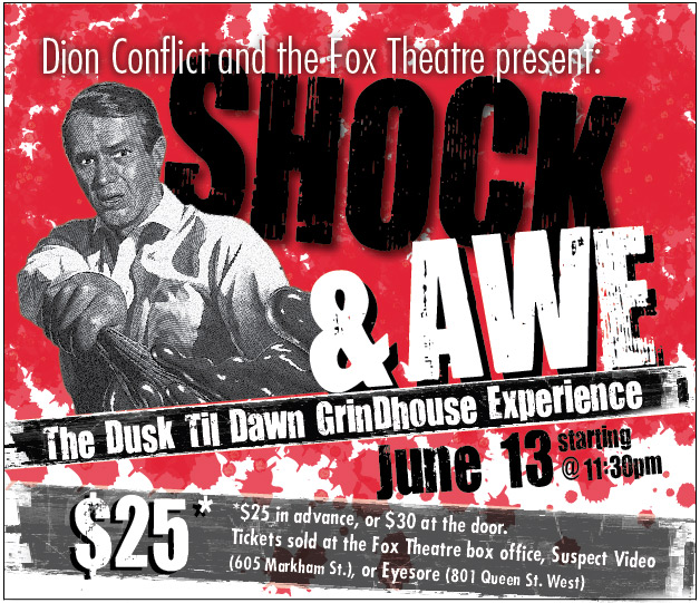 Poster for Shock & Awe: The Grindhouse Experience at The Fox Theatre