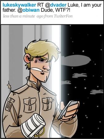 Luke Skywalker Twitters