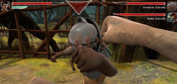 Screenshot of Zeno Clash demonstrating in-game brawling