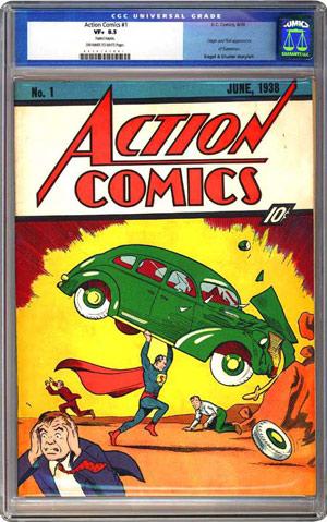 CGC graded Action Comics #1