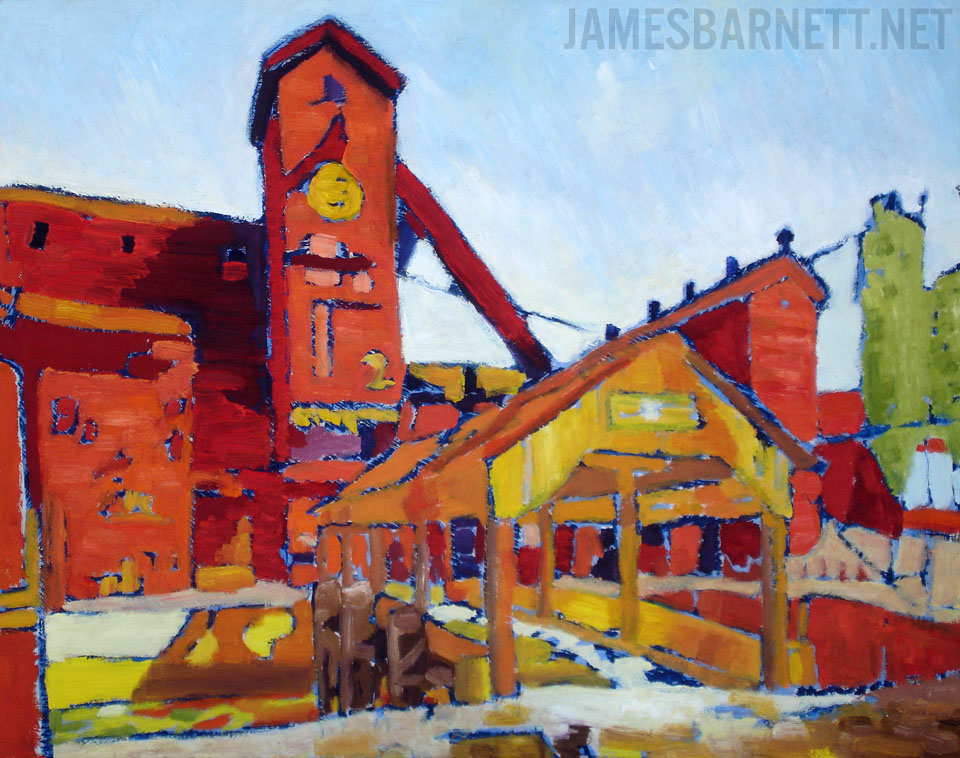 James Barnett's 2fort Red Oil Painting