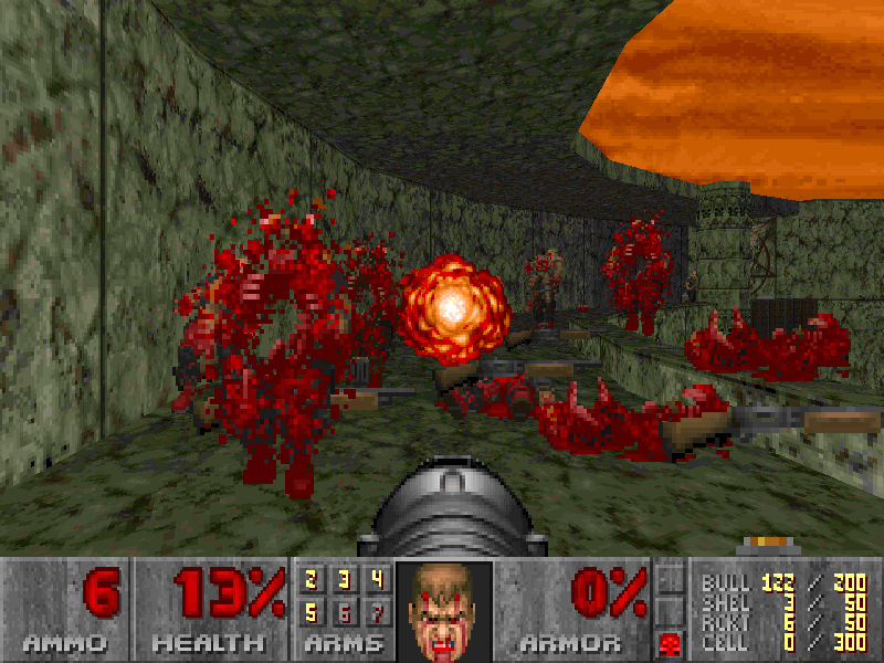 Doom 2 enemies gibbing