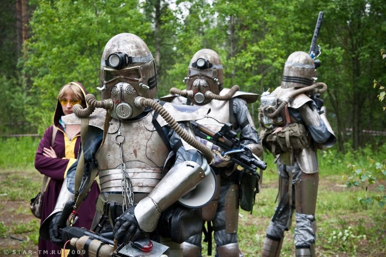 Fallout 2 live action role players in Russia.