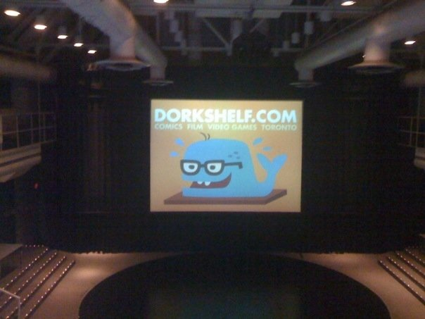 Dork Shelf on the big screen at Innis Town Hall