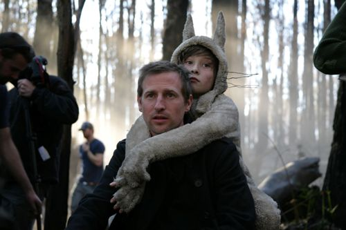 Spike Jonze directing Where The Wild Things Are