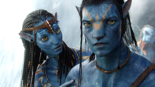 Ney'tiri and Jake Sully in Avatar