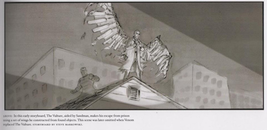 Dropped pre-production sketch from Spider-Man 3