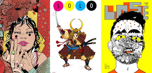 100% by Paul Pope, DC's Solo by Sergio Aragonés and Lose #1 by Michael Deforge