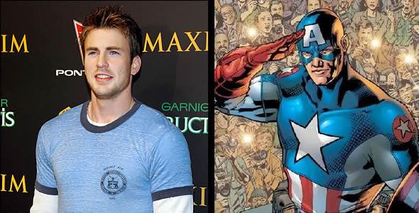 Chris Evans is Steve Rogers aka Captain America