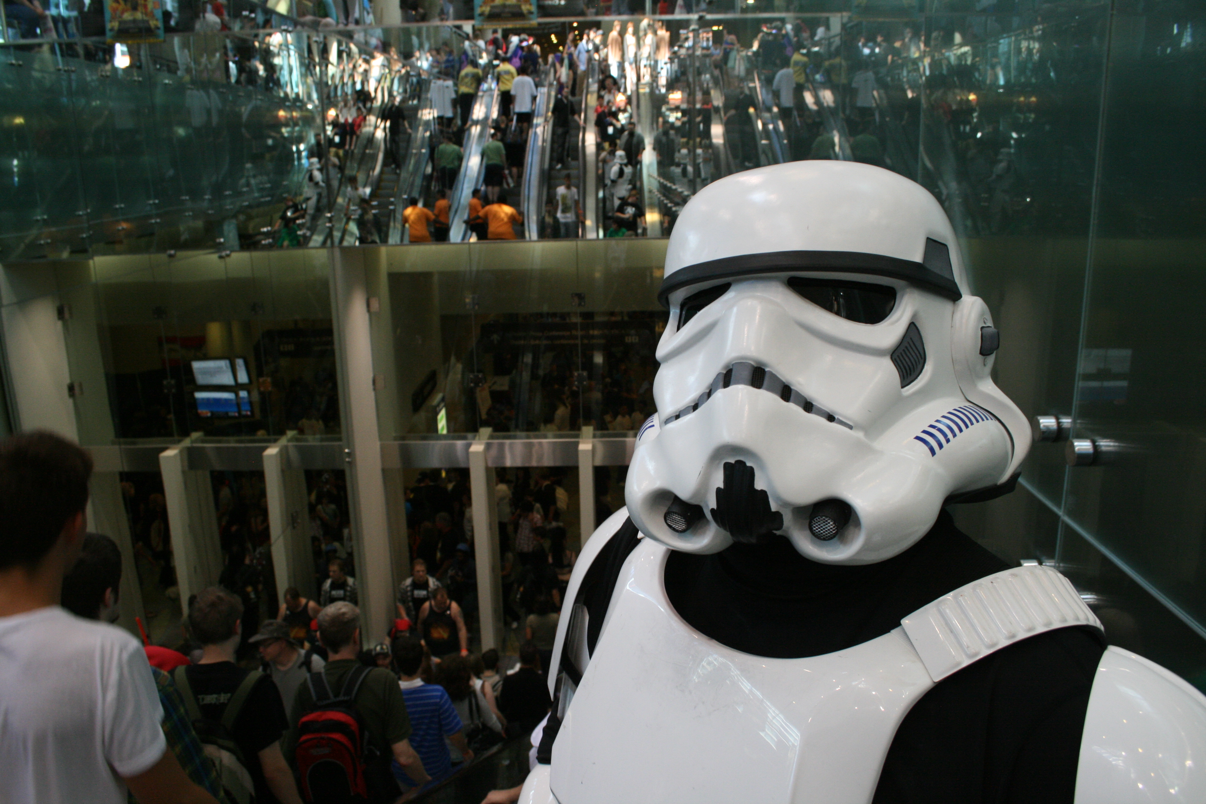Stormtroopers use the escalators too (Photo by Jonathan Ore)