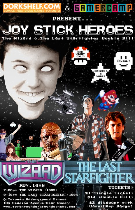 Dork Shelf & Gamercamp Present The Wizard and The Last Starfighter