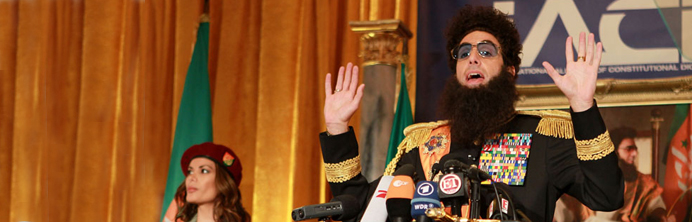 The Dictator Press Conference - Featured