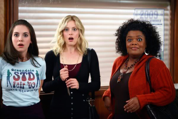 Alison brie yvette nicole brown gillian jacobs community 8