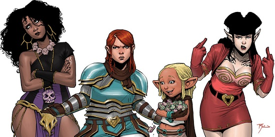 Rat Queens. Dee, Violet, Betty and Hannah
