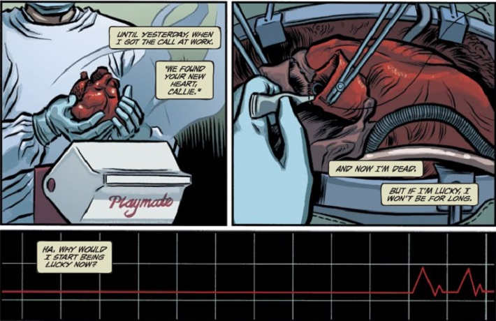 Opening scene from Heartthrob, issue 1