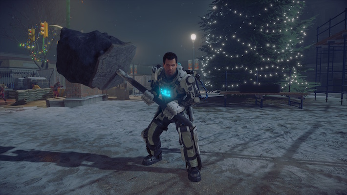 Dead Rising 4 Rip Parking Meter in EXO Suit