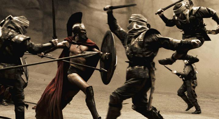 300-Gerard-Butler-In-Battle